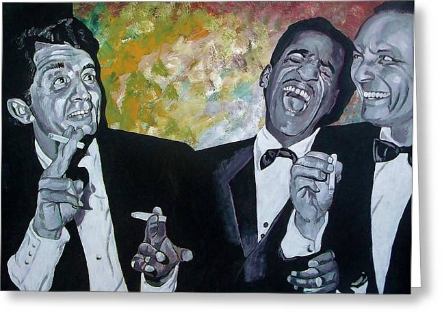 Crooner Greeting Cards - Rat Pack Greeting Card by Jeremy Moore
