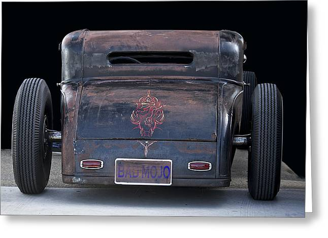 Rat Rod 'bad Mojo' Greeting Card by Dave Koontz