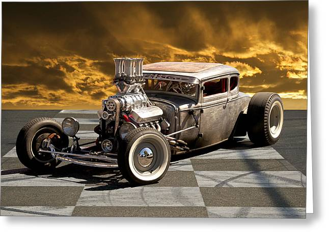 Model A Sedan Greeting Cards - Rat Rod Coupe III Greeting Card by Dave Koontz