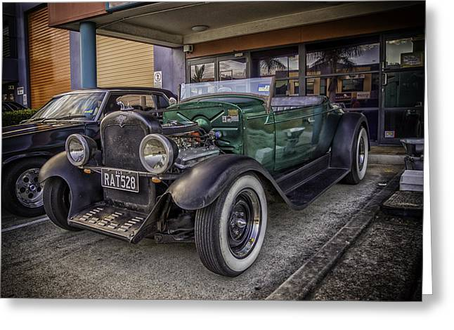 Grunts Greeting Cards - Rat Rod Greeting Card by Peter Lombard