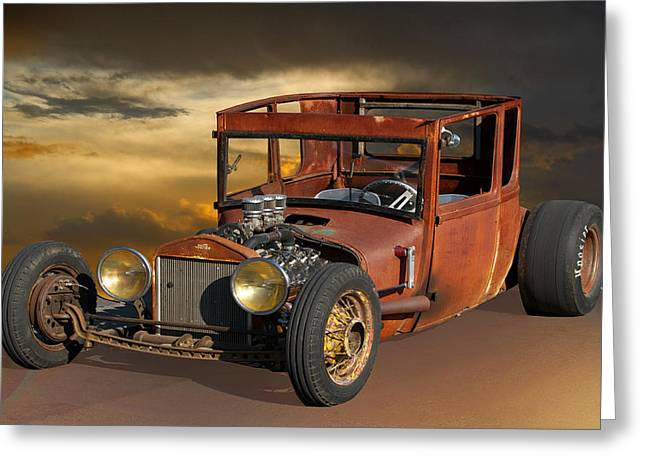 Rat Rod Royal - T Greeting Card by Dave Koontz