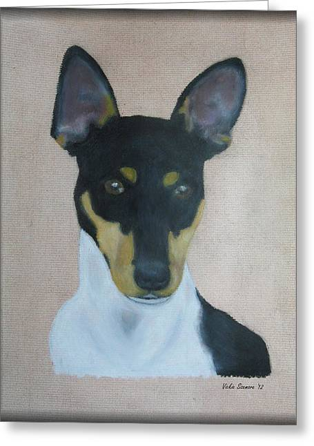Canines Art Pastels Greeting Cards - Rat Terrier Greeting Card by Vickie Sizemore