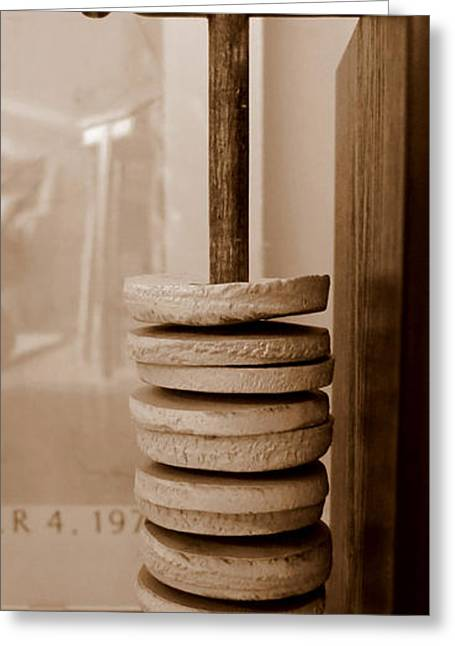 Beige Abstract Greeting Cards - Ratatak Shaker Greeting Card by Patricia Januszkiewicz