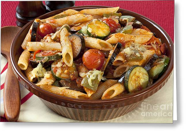 Stew Greeting Cards - Ratatouille Pasta Bake Greeting Card by Colin and Linda McKie