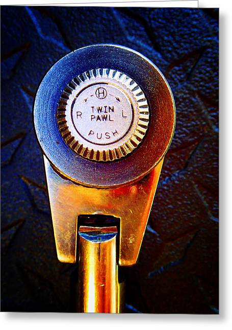 Decorator Set Greeting Cards - Ratchet Dial B Greeting Card by Laurie Tsemak