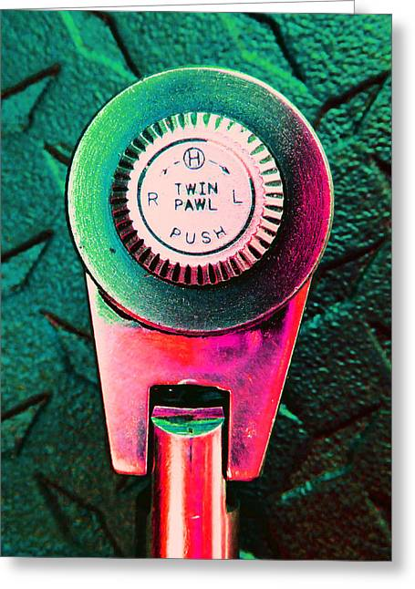 Decorator Set Greeting Cards - Ratchet Dial D Greeting Card by Laurie Tsemak