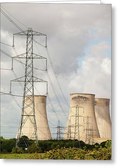 Ratcliffe On Soar Power Station Greeting Card by Ashley Cooper