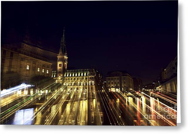 Deutschland Greeting Cards - Rathaus Color Explosion Greeting Card by John Rizzuto