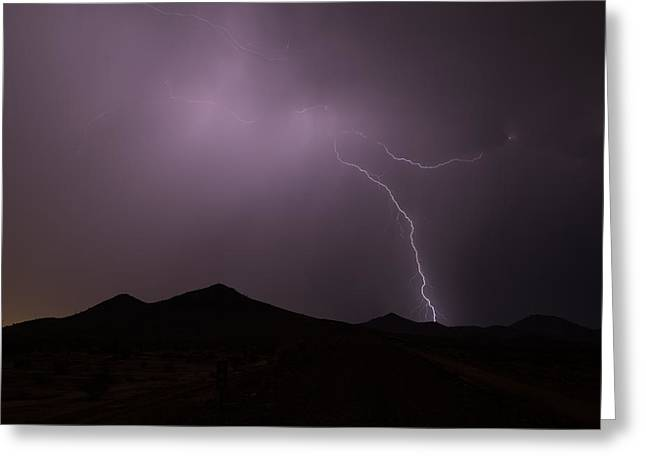 Arizona Lightning Greeting Cards - Rather Shy Greeting Card by Cathy Franklin