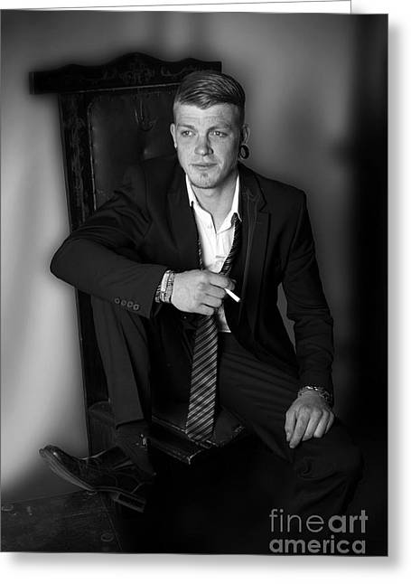 Ratpack Shooting Luke For Ay 2013 Greeting Card by Ute Bescht
