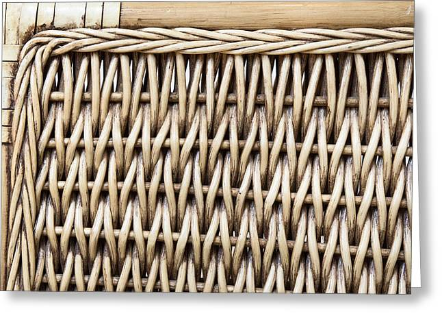 Wattle Greeting Cards - Rattan  Greeting Card by Tom Gowanlock