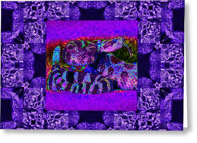 Medusa Digital Greeting Cards - Rattlesnake Abstract Window 20130204m133 Greeting Card by Wingsdomain Art and Photography