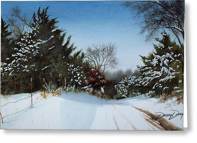 Rattlesnake Road Greeting Card by Denny Dowdy