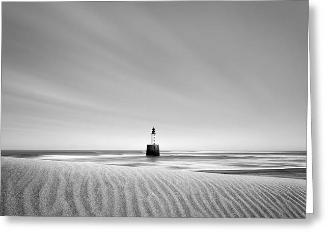 Sand And Sea Greeting Cards - Rattray Head Lighthouse Greeting Card by Dave Bowman