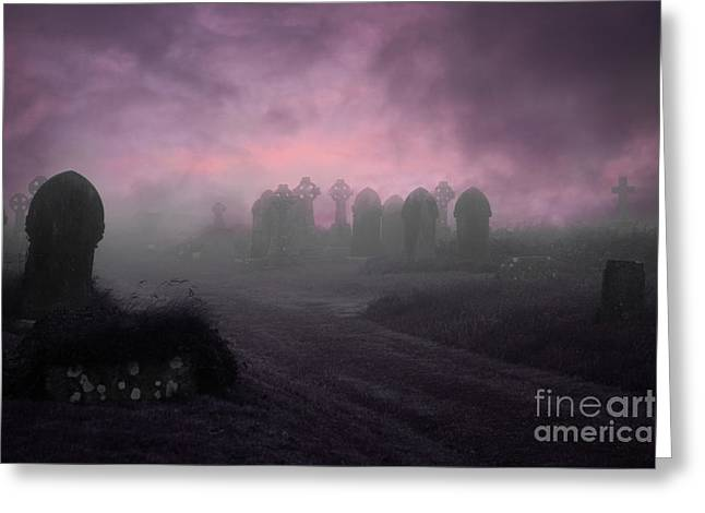 Ghostly Greeting Cards - Rave in the Grave Greeting Card by Terri  Waters