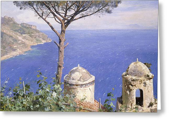 Monsted Greeting Cards - Ravello Greeting Card by Peder Monsted