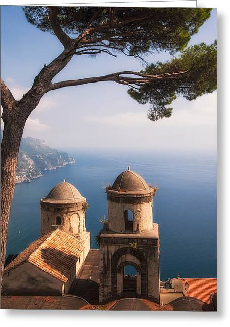Ocean Vista Greeting Cards - Ravello Views by Zina Zinchik Greeting Card by Zina Zinchik