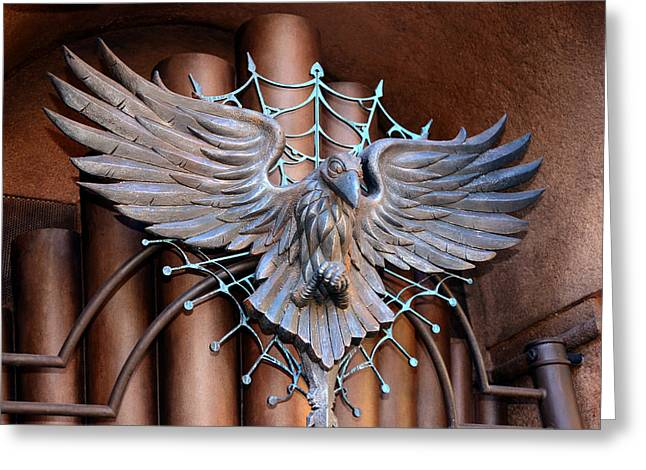 Haunted Mansion Greeting Cards - Raven and Organ Greeting Card by David Lee Thompson