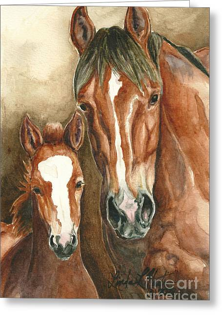 Llmartin Greeting Cards - Lark and Robin of Sand Wash Basin Greeting Card by Linda L Martin