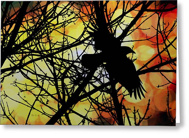 Mystic Art Photographs Greeting Cards - Raven Greeting Card by Bob Orsillo