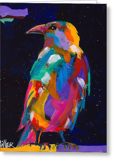 Raven Dreams Greeting Card by Tracy Miller