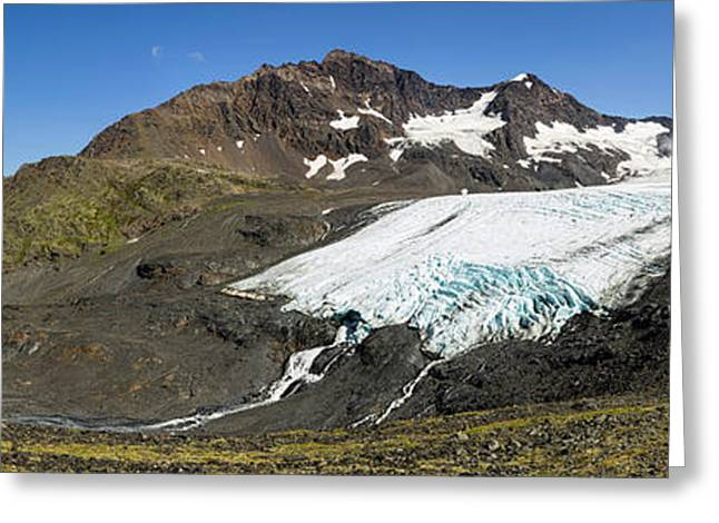 Raven Glacier At Crow Pass Greeting Card by Panoramic Images