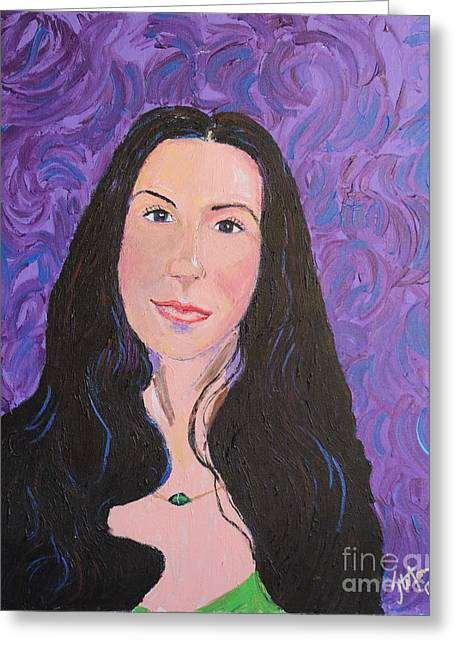Raven Haired Greeting Cards - Raven Hair Greeting Card by Stefan Duncan