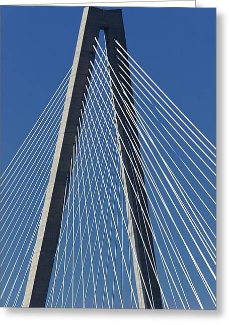 Ravenal Bridge Greeting Cards - Ravenel Bridge Greeting Card by Jenny Hudson
