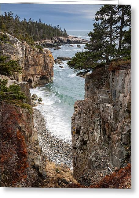 Maine Shore Greeting Cards - Ravens Nest Greeting Card by Patrick Downey