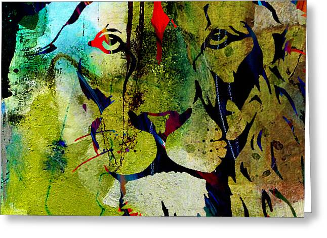 Tiger Greeting Cards - Raw Beauty and Power Greeting Card by Marvin Blaine