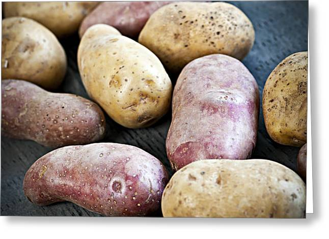 Raw potatoes Greeting Card by Elena Elisseeva
