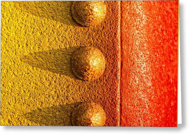 Abstracts Photographs Greeting Cards - Raw Steel Greeting Card by Tom Druin