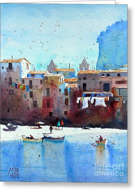 Rawer At Cefalu Greeting Card by Andre MEHU