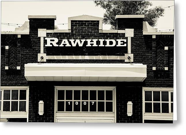 Rawhide Greeting Cards - Rawhide Building Greeting Card by David Waldo
