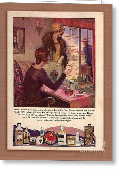 Traveling Salesman Greeting Cards - Rawleighs Good Health Products Greeting Card by Anne Kitzman