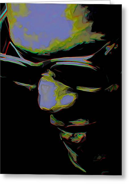 Shadow Art Greeting Cards - Ray Charles Greeting Card by  Fli Art