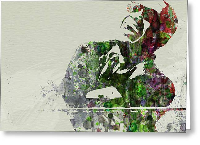 New York City Paintings Greeting Cards - Ray Charles Greeting Card by Naxart Studio