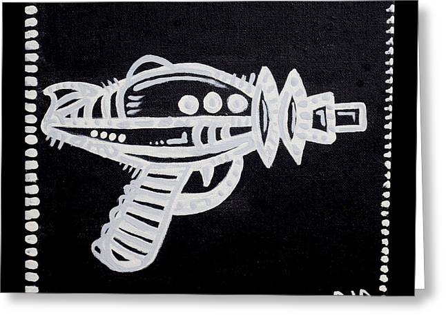 Web Of Life Paintings Greeting Cards - Ray Gun  Greeting Card by Josh Brown