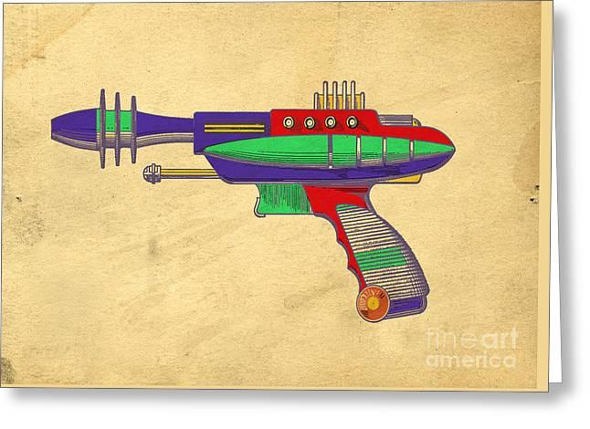 Ray Gun Patent Art Greeting Card by Edward Fielding