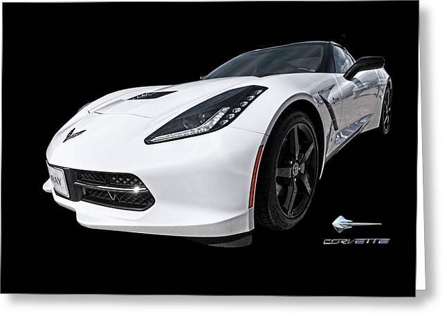 Art Of Muscle Greeting Cards - Ray Of Light - Corvette Stingray Greeting Card by Gill Billington