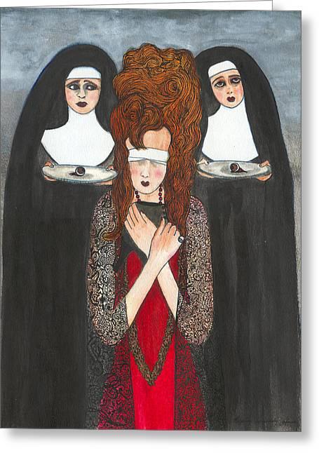 Plato Drawings Greeting Cards - Ray Of Light Greeting Card by Lupita Fernandez Soberon