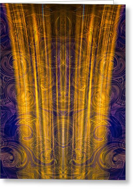 Ray Of Light Greeting Card by Omaste Witkowski