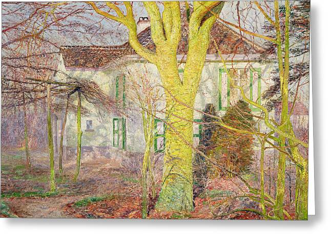 Luminist Greeting Cards - Ray of Sunlight Greeting Card by Emile Claus