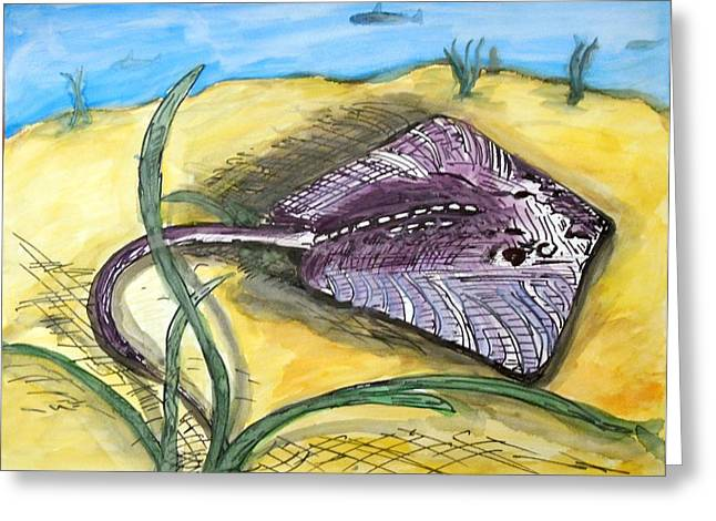 Waterlife Greeting Cards - Ray Greeting Card by Randolph Gatling