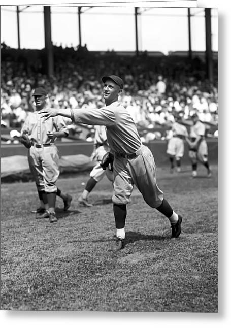 Baseball Game Greeting Cards - Ray Rowher Greeting Card by Retro Images Archive