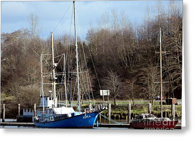 Neurotic Images Photography Greeting Cards - Raymond Fishing Boats Greeting Card by  Chalet Roome-Rigdon