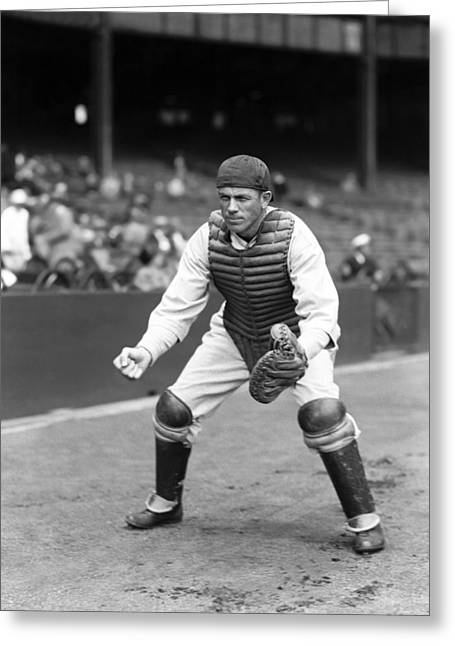 Baseball Equipment Greeting Cards - Raymond H. Ray Hayworth Greeting Card by Retro Images Archive