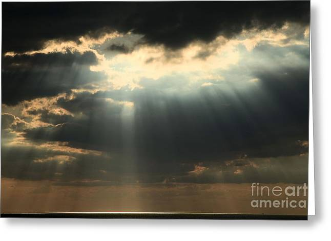 Obx Greeting Cards - Rays From Heaven Greeting Card by Adam Jewell