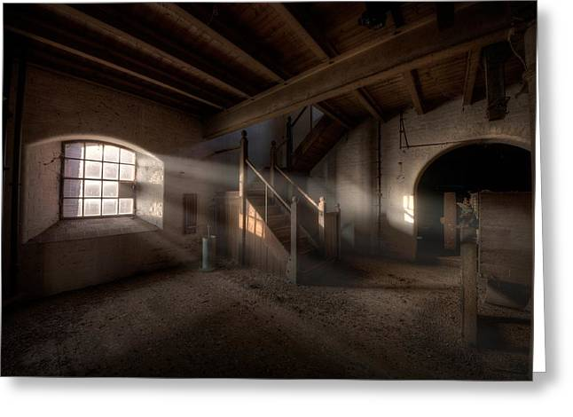 Abandoned Mill Greeting Cards - Rays Greeting Card by Jason Green