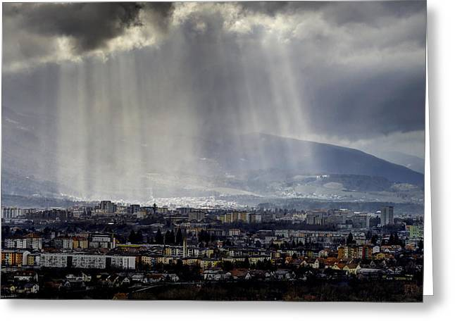 Future Office Space Greeting Cards - Rays of hope Greeting Card by Ivan Slosar